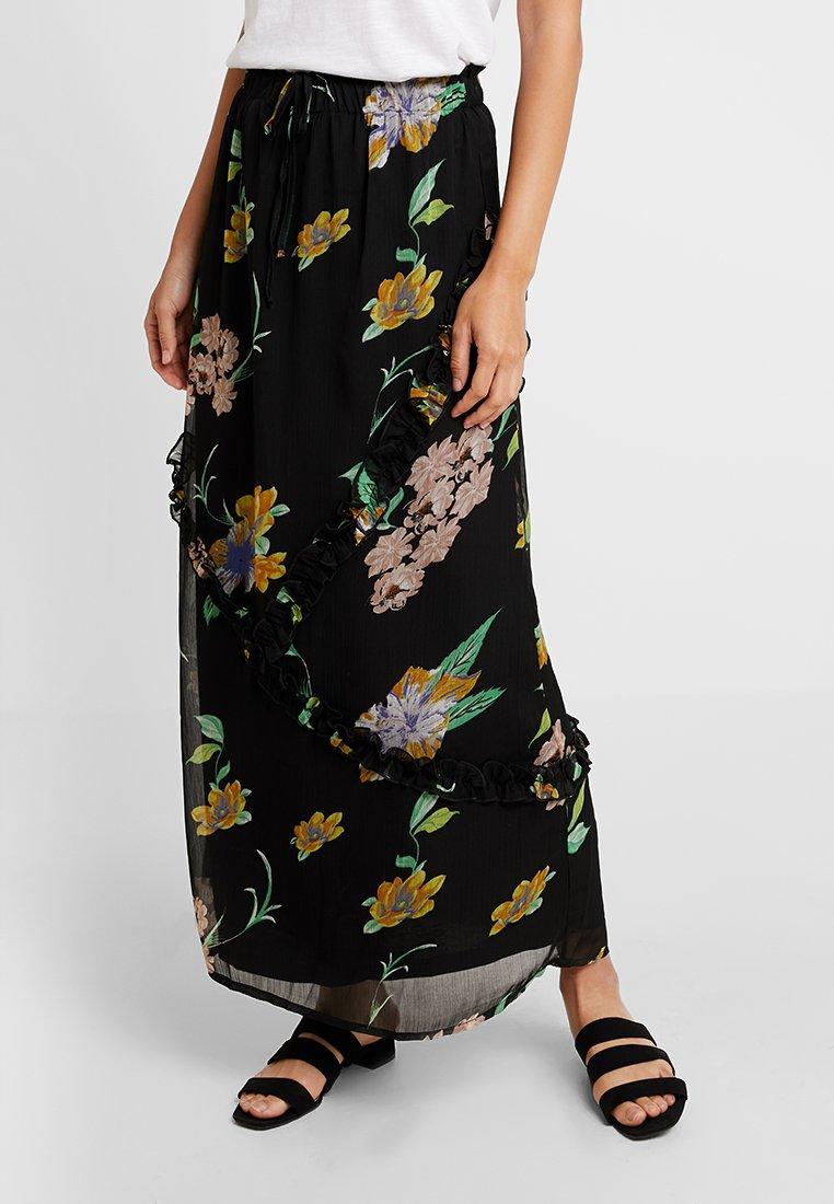 Freequent - Falda larga - black combi