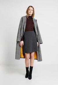 Freequent - A-line skirt - dark grey melange - 1