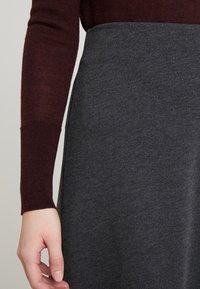 Freequent - A-line skirt - dark grey melange - 3