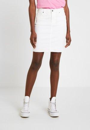 Jeansrok - white denim