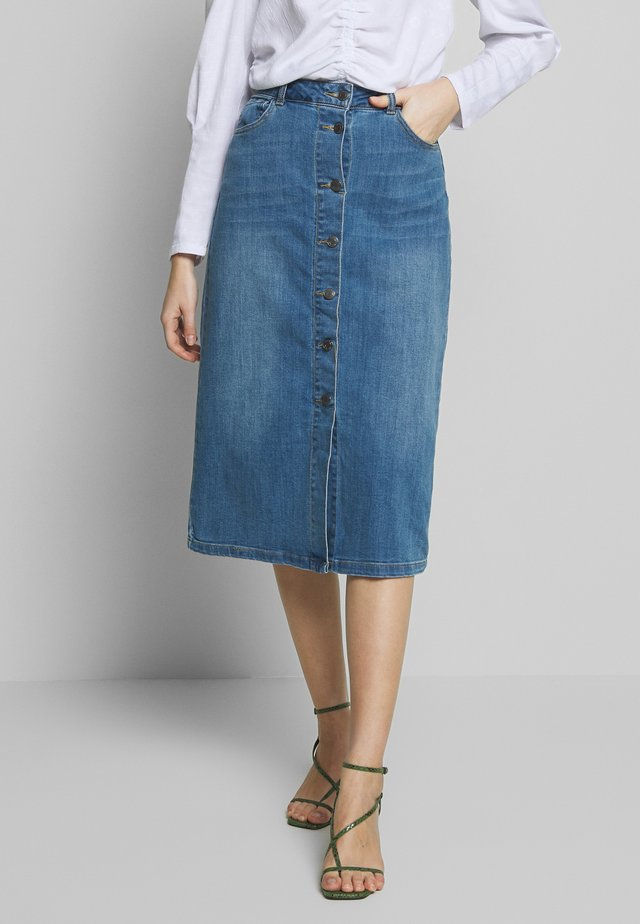 A-linjekjol - vintage blue