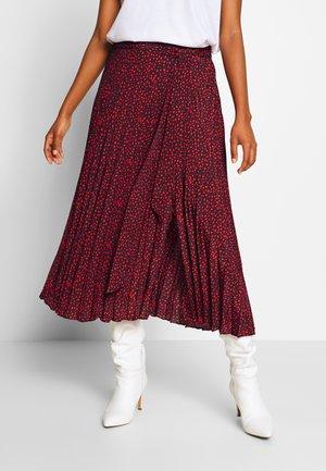 PAULA - A-line skirt - chestnut mix