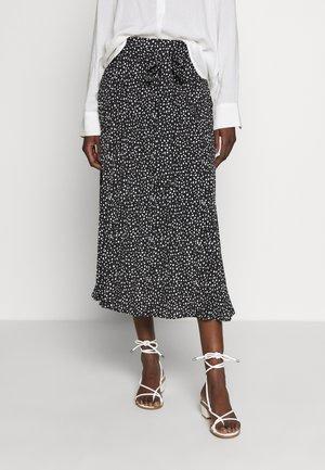 PAULA - A-line skirt - black/offwhite