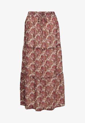 A-line skirt - brick red mix