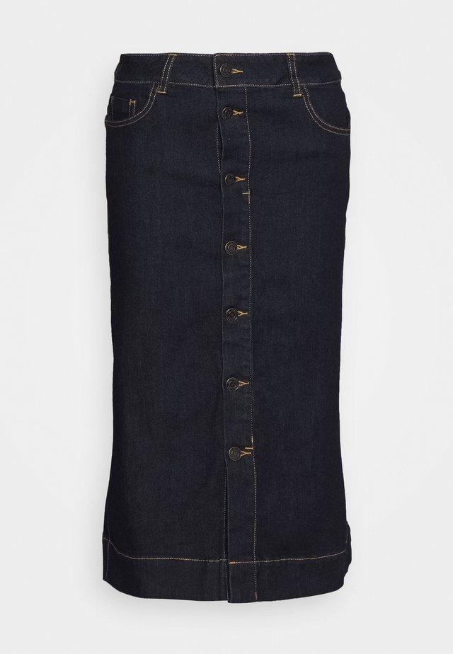 YOKE - Denim skirt - indigo blue denim