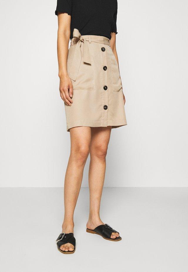 A-line skirt - beige/sand