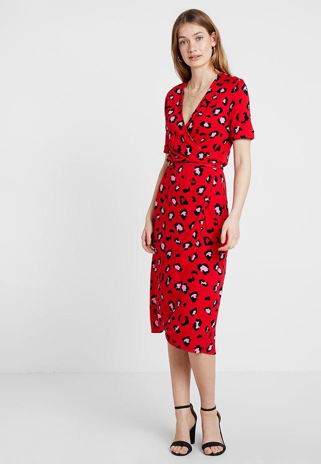Jersey dress - tomato