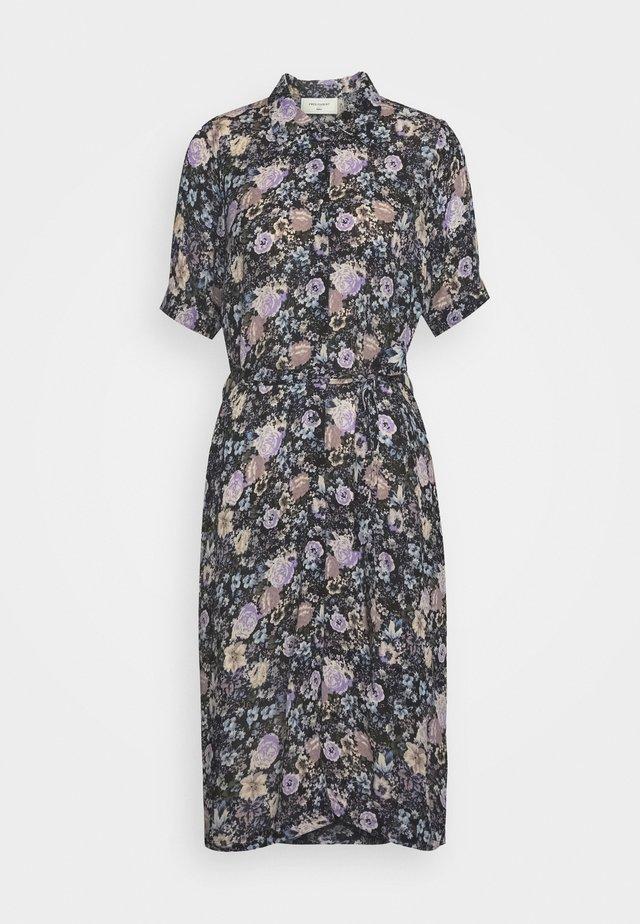 Korte jurk - violet tulip
