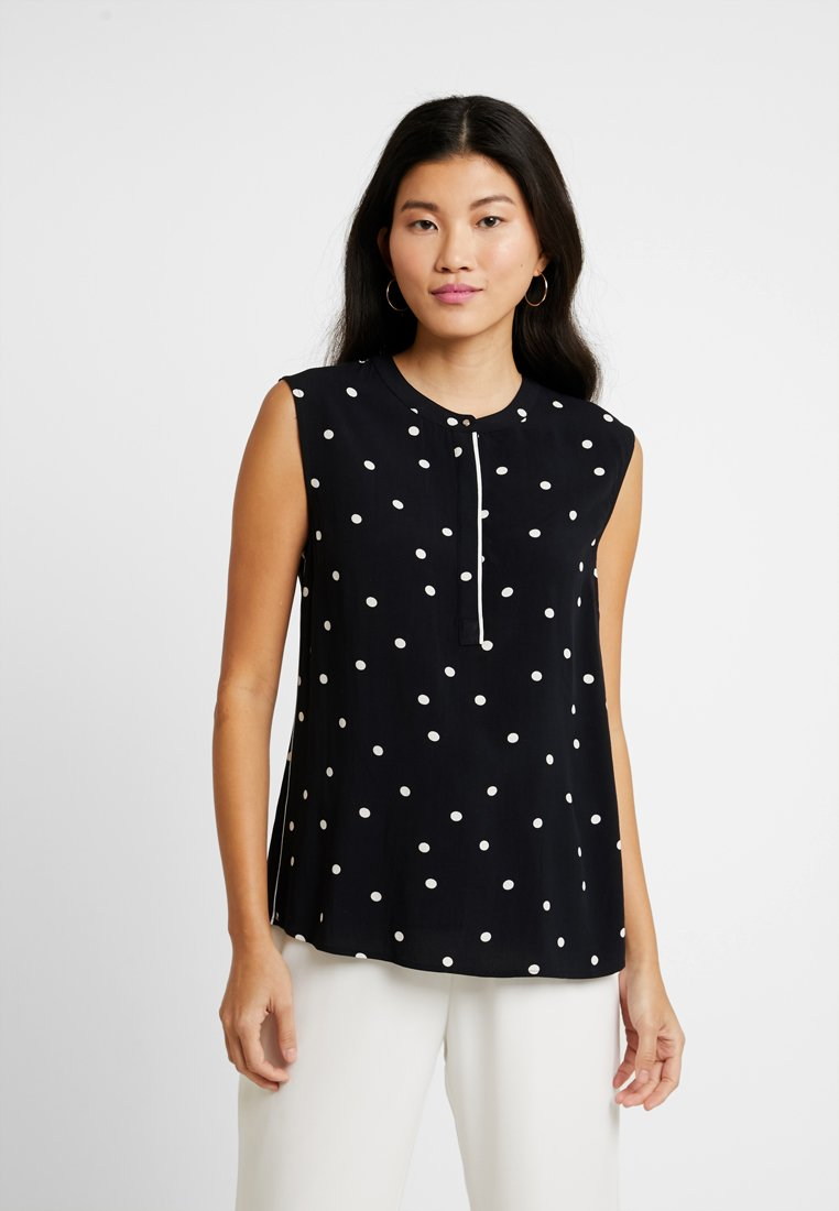Freequent - Blouse - black/white