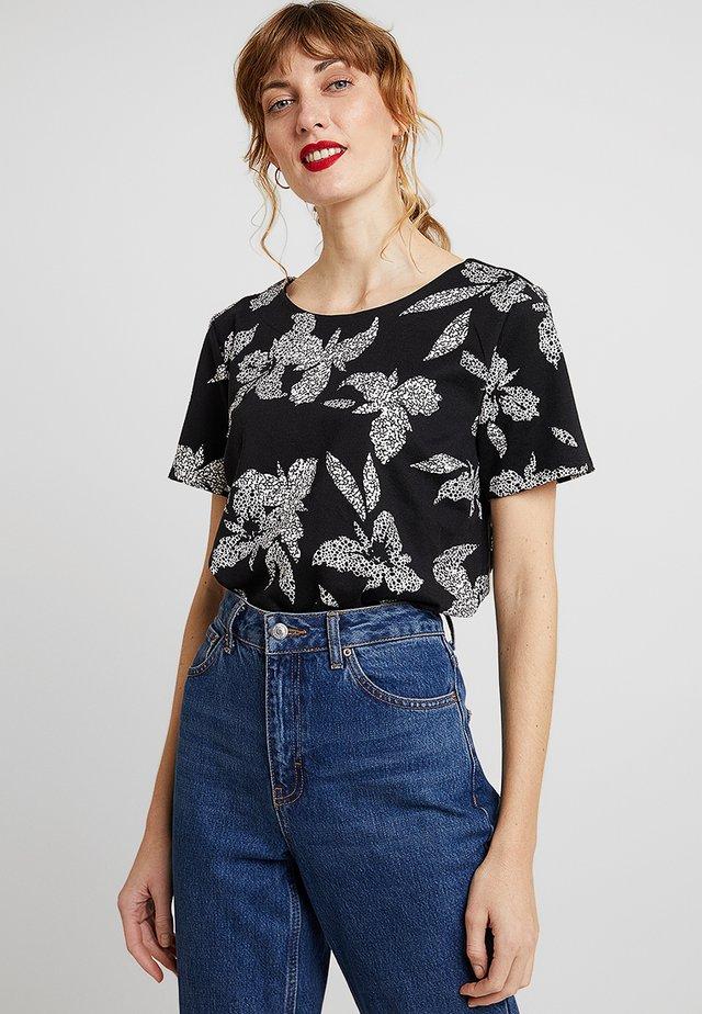 T-Shirt print - black/offwhite