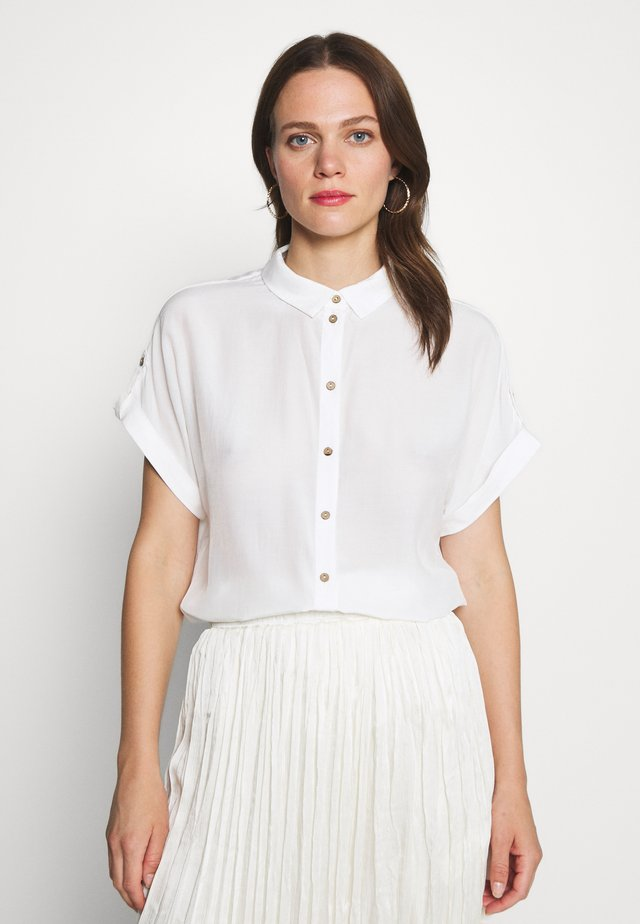 Button-down blouse - brilliant white