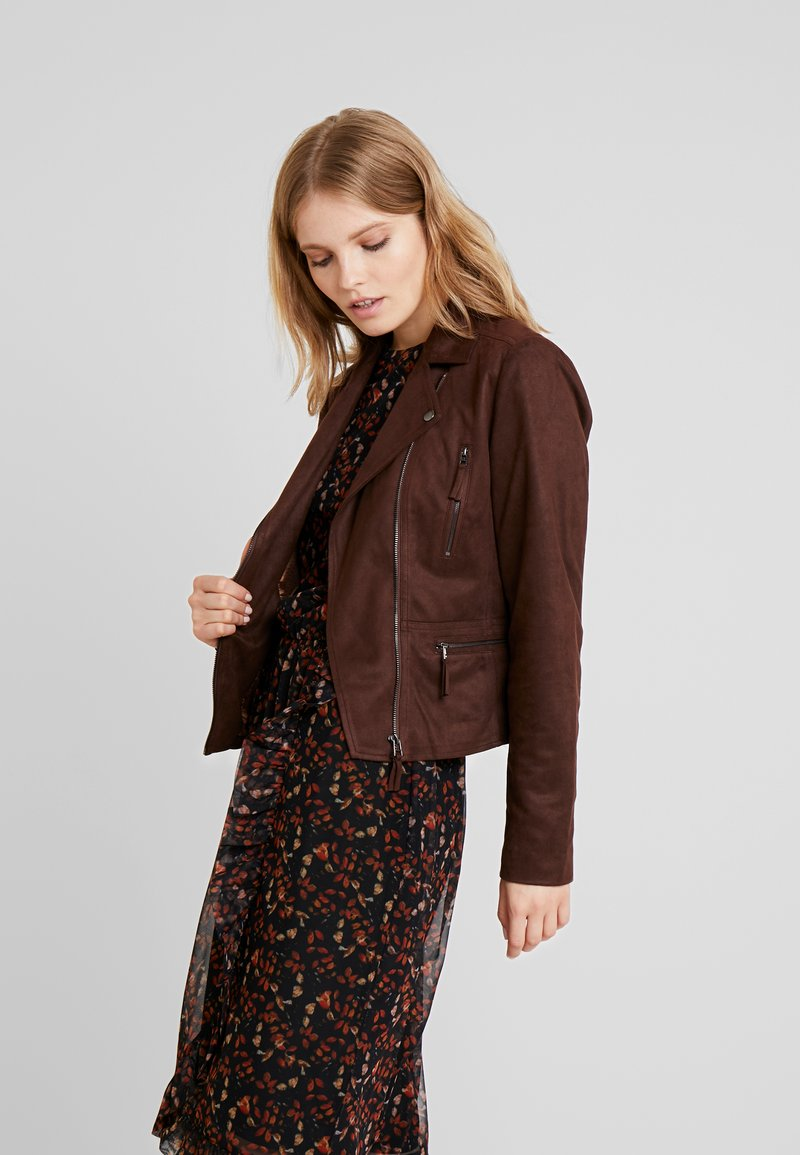 Freequent - Faux leather jacket - chicory coffee