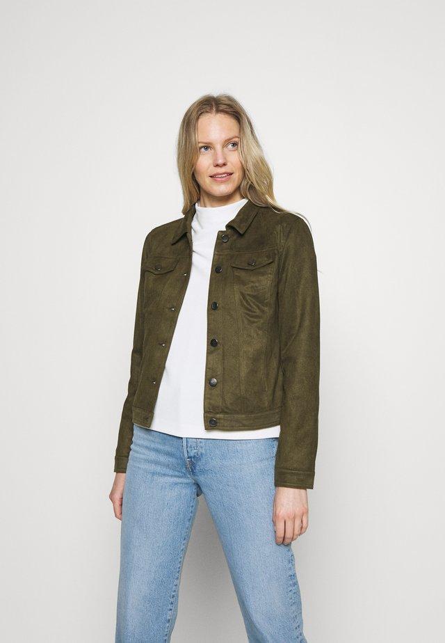 FQBIRDA - Faux leather jacket - olive night