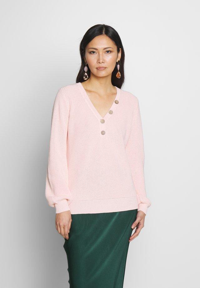 VANILLA V - Stickad tröja - pink dogwood