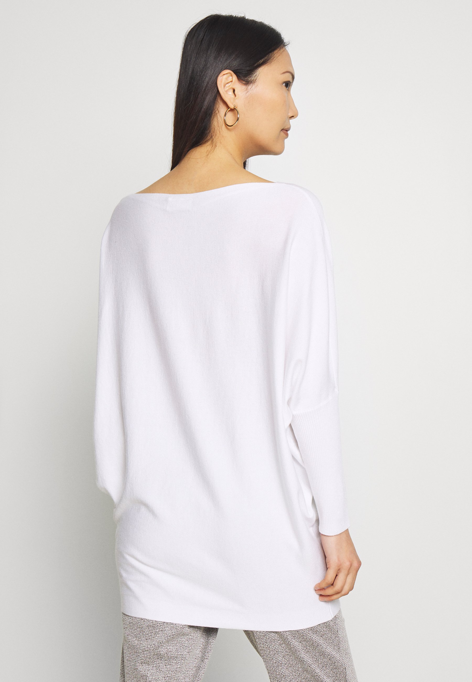 Freequent Stickad Tröja - Bright White