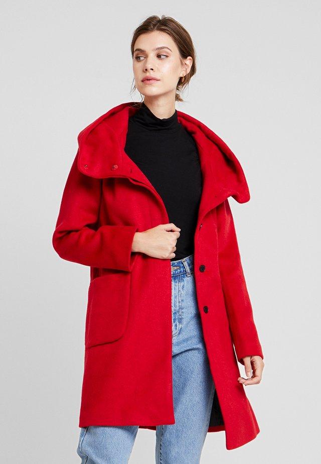 DICTE - Classic coat - samba red