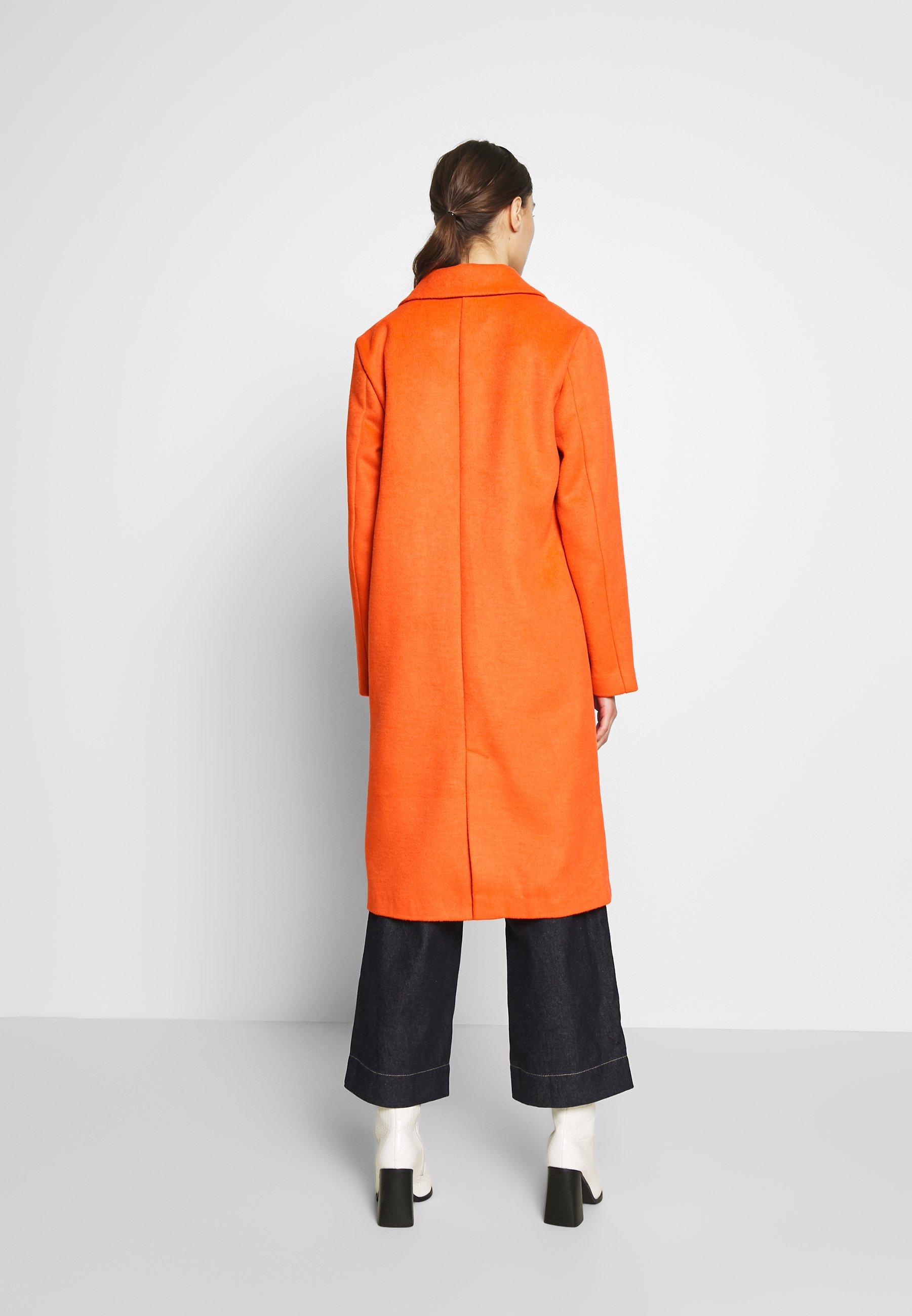 Freequent VENICE - Płaszcz wełniany /Płaszcz klasyczny - red orange