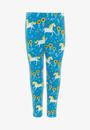 ORGANIC COTTON LIBBY UNICORN - Legging - blue