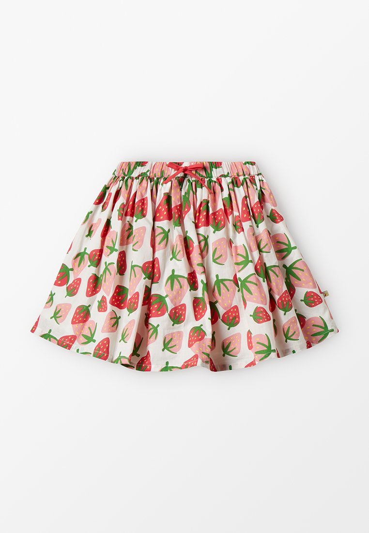 Frugi - FIONA FULL SKIRT - Faltenrock - white/red
