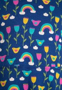 Frugi - ORGANIC COTTON SOFIA SKATER DRESS BLUE RAINBOW FLOWERS - Jerseyklänning - dark blue - 2