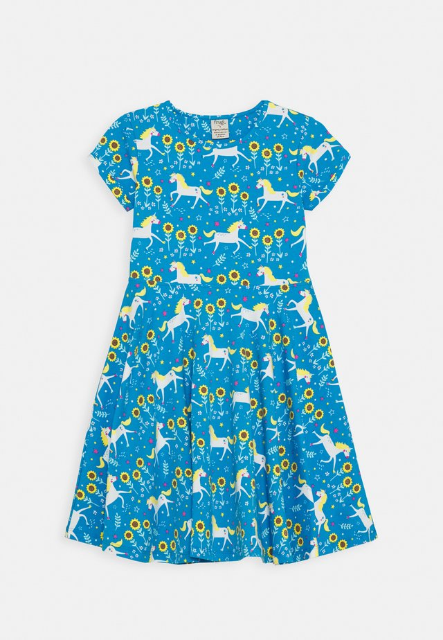 SOFIA SKATER DRESS UNICORN - Jerseyklänning - blue