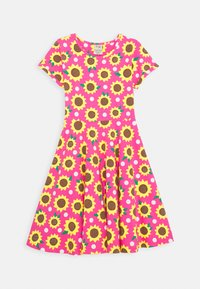 Frugi - SOFIA SKATER DRESS SUNFLOWERS - Sukienka z dżerseju - flamingo - 0