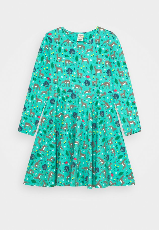 SOFIA SKATER DRESS - Jerseyklänning - pacific aqua