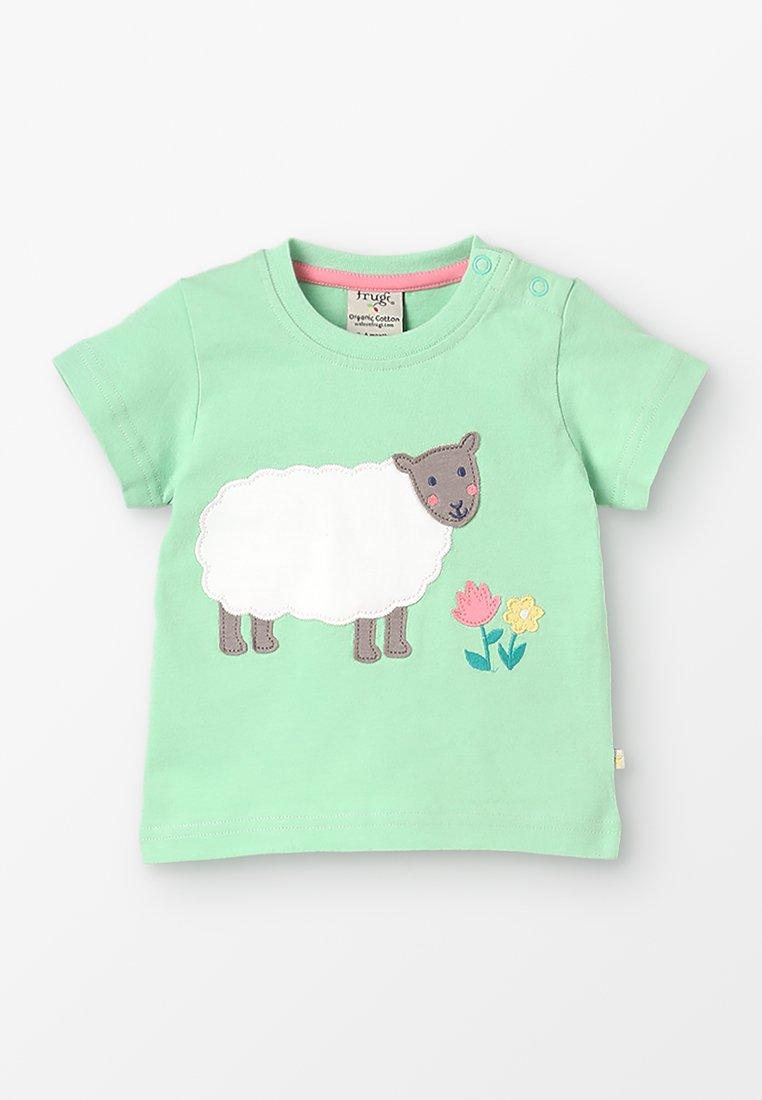 Frugi - LITTLE POLKERRIS APPLIQUE BABY - Print T-shirt - soft green