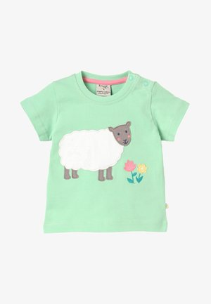 LITTLE POLKERRIS APPLIQUE BABY - Print T-shirt - soft green