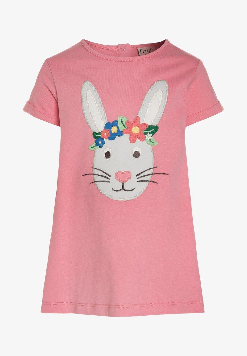 Frugi - KIDS SOPHIE APPLIQUE - Print T-shirt - guava pink/rabbit