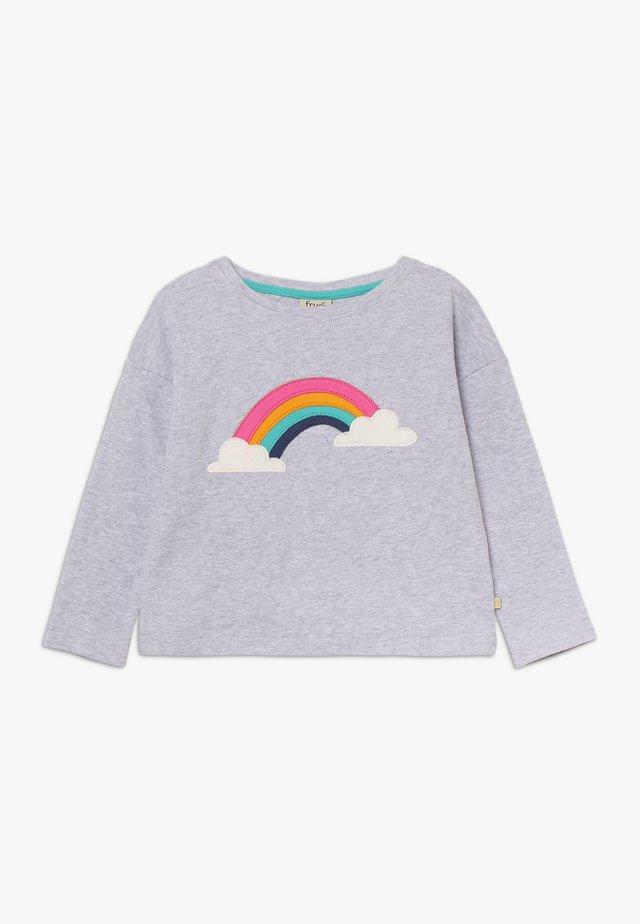 BETHANY BOXY - Long sleeved top - grey marl/rainbow