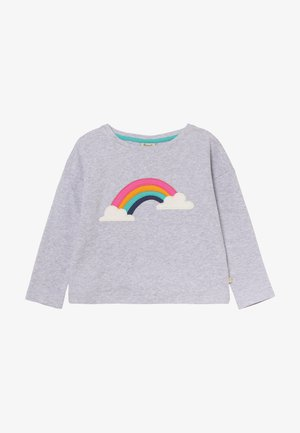 BETHANY BOXY - T-shirt à manches longues - grey marl/rainbow