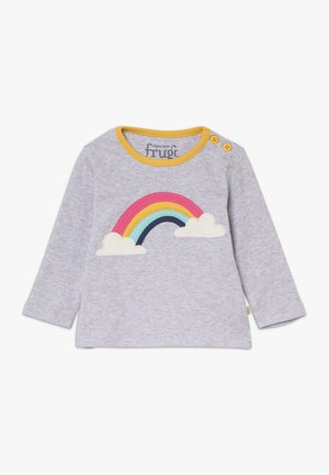 BUTTON APPLIQUE TOP BABY - Camiseta de manga larga - grey marl/rainbow