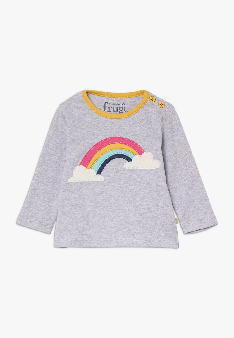Frugi - BUTTON APPLIQUE TOP BABY - Långärmad tröja - grey marl/rainbow