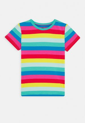 EVERYTHING RAINBOW - T-shirt z nadrukiem - flamingo/multi
