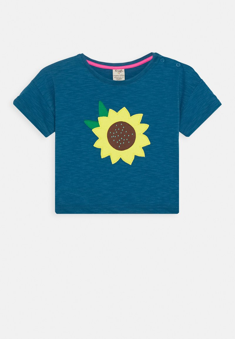 Frugi - MYLA SUNFLOWER - T-shirt print - steely blue