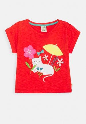 SOPHIA SLUB - Print T-shirt - koi red