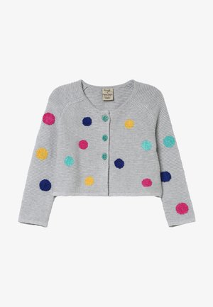 EMILIA EMBROIDERED CARDIGAN - Cardigan - grey marl/multi