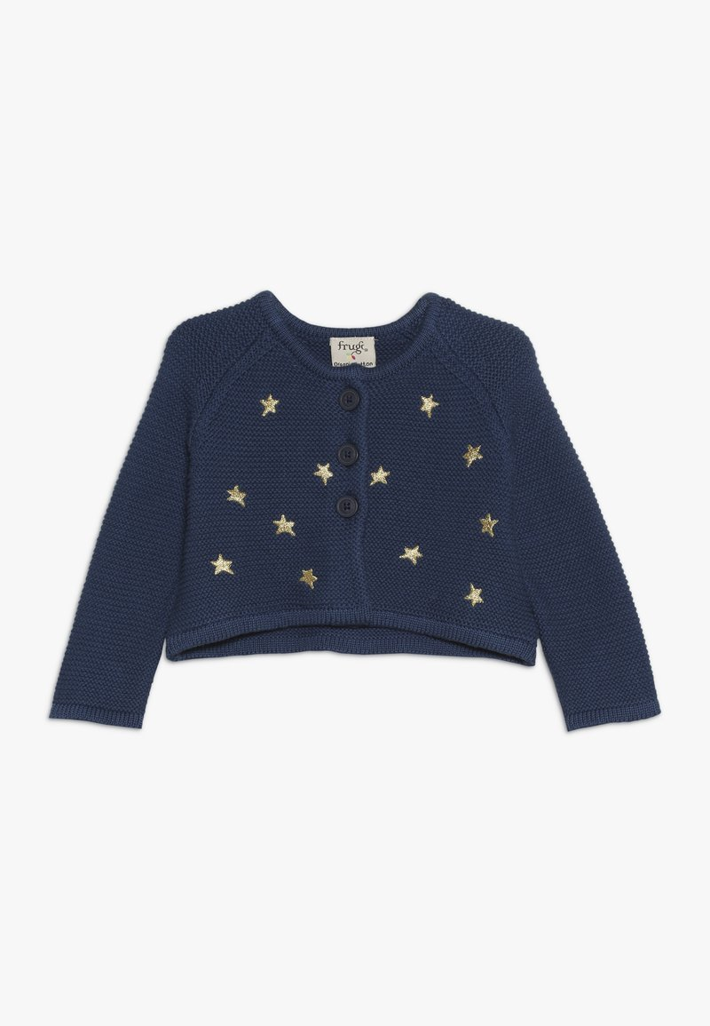 Frugi - EMILIA EMBROIDERED BABY - Chaqueta de punto - space blue