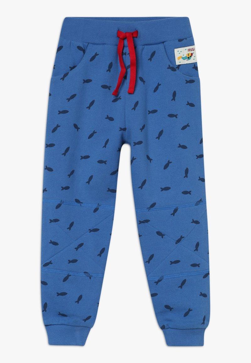 Frugi - PRINTED SNUG JOGGERS - Teplákové kalhoty - sail blue shoals