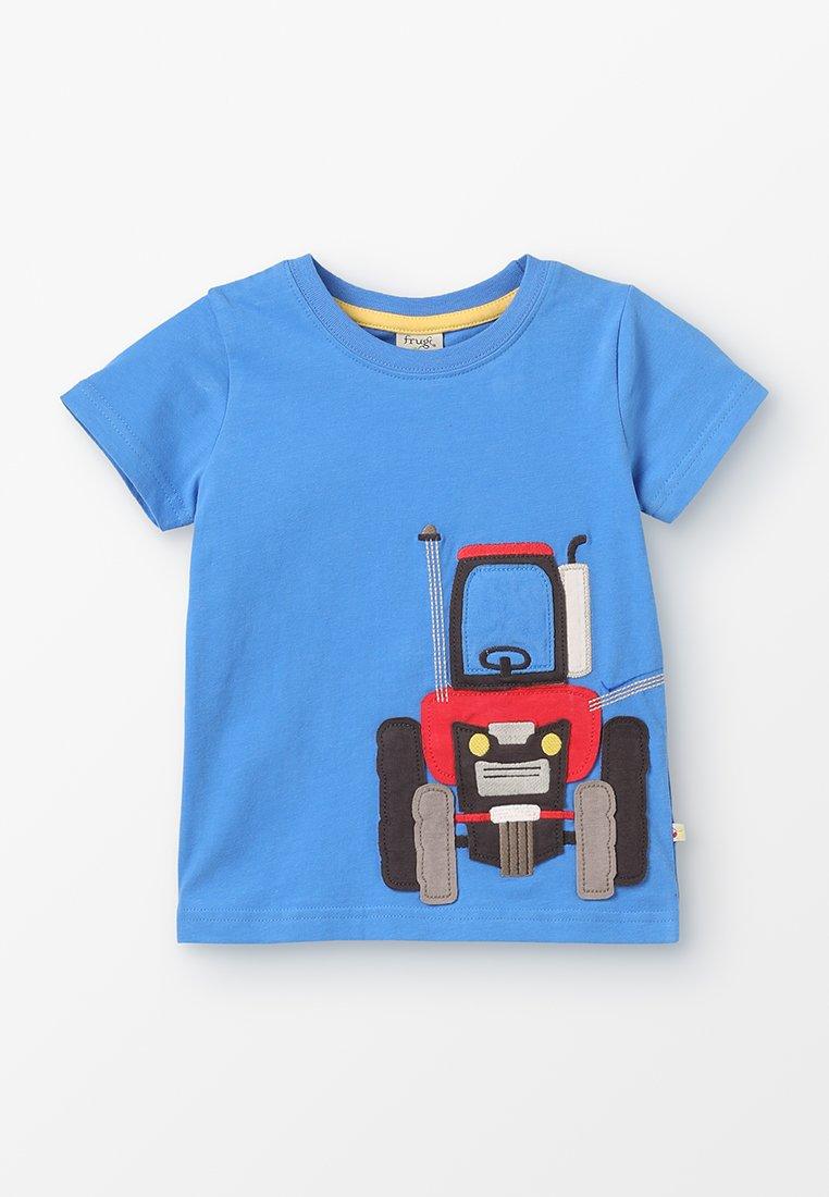 Frugi - KIDS JAMES APPLIQUE  - T-Shirt print - sail blue