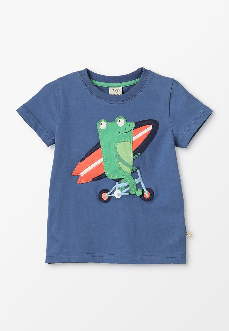 Frugi - KIDS STANLEY APPLIQUE  - T-Shirt print - marine blue
