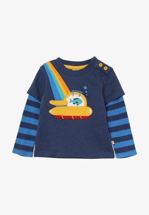 LEO LAYERED TEE BABY - Pitkähihainen paita - space blue