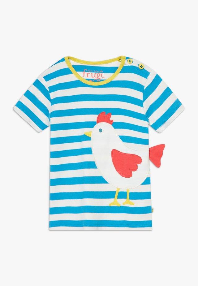 ARDEN STRIPE CHICKEN BABY - T-shirt con stampa - motosu blue