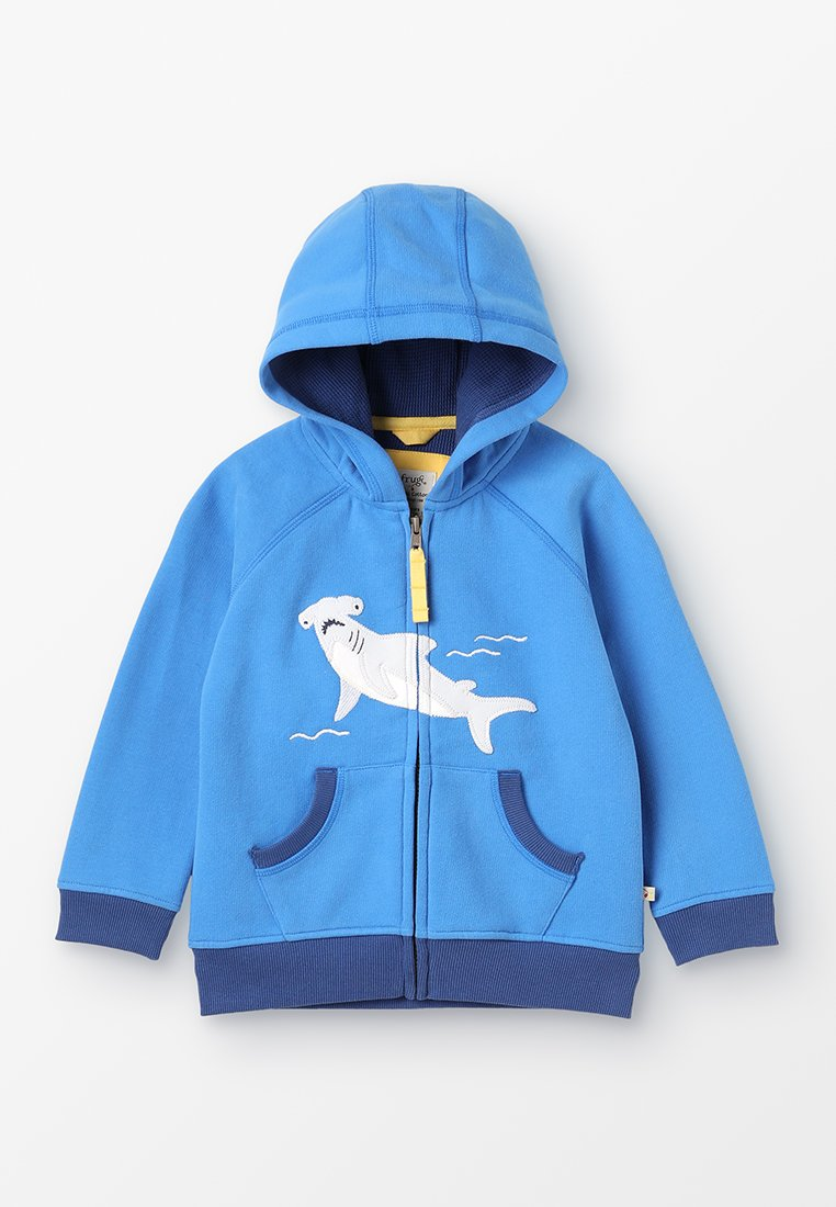 Frugi - KIDS LUCAS ZIP UP HOODY - Zip-up hoodie - sail blue