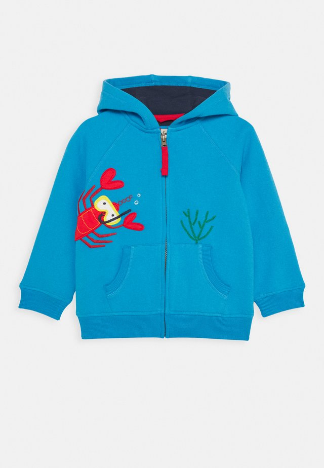 LUCAS LOBSTER ZIP UP HOODED JUMPER - Huvtröja med dragkedja - motosu blue