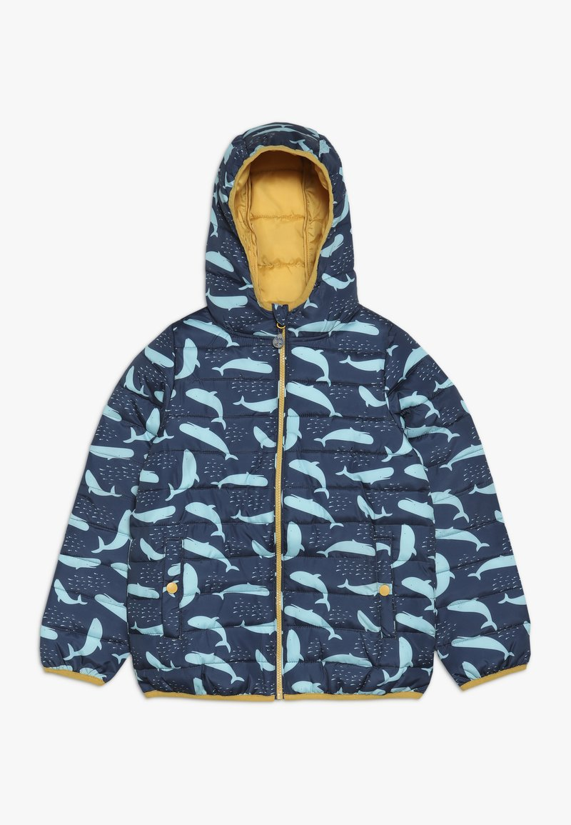 Frugi - WATER RESISTENT BLUE RECYCLED FABRIC JACKET - Kurtka zimowa - blue whales