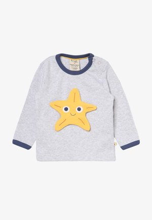 BUTTON OFF APPLIQUE BABY - Long sleeved top - grey marl