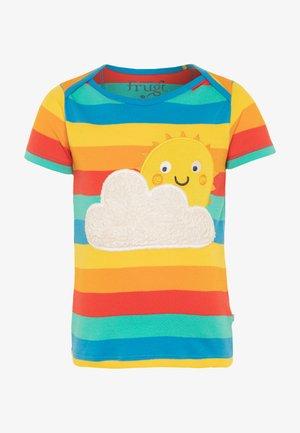 ORGANIC COTTON BOBSTER APPLIQUE RAINBOW BABY - Triko spotiskem - multicolor