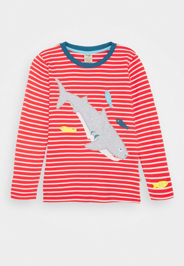 DISCOVERY APPLIQUE UNISEX - Long sleeved top - koi red stripe